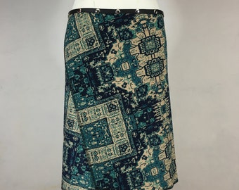 Snap Around Skirt, Antique Blue Classic by Erin MacLeod