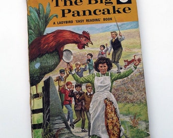 Vintage Ladybird Book - The Big Pancake- very good vintage condition- children's story Book