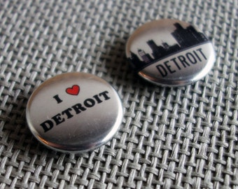 I Heart Detroit Magnets - Set of Two