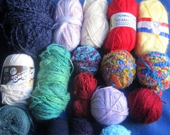 mixed lot of yarn more than 2  pounds  yarn destash