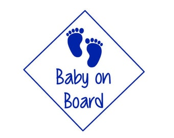 Baby on board decal,window decal, vinyl
