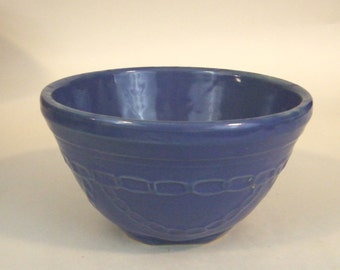 VINTAGE Blue Monmouth CHAIN link Milk BOWL