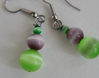 purple and green cat eyes (DS60)
