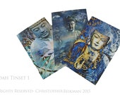 Radiance Buddha Note Card Tin Set - 12 Buddha Note Cards by Christopher Beikmann - 3 Different Designs Made From Recycled Paper