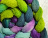 SALE 20% OFF  Yarn Hollow Hand Dyed Polypay Roving Manic Monday Multi Color American Wool American Sheep