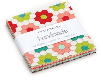 1 pack - Handmade Charm Pack by Bonnie and Camille for Moda Fabrics,  42 5 inch squares