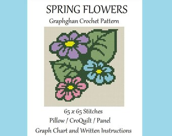 Spring Flowers - Graphghan Crochet Pattern