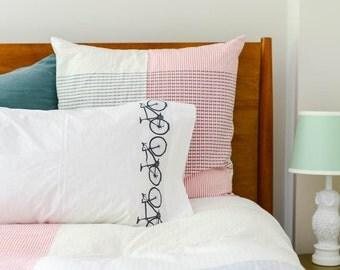Bicycle Stripe Pillowcases - Set of 2