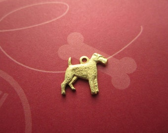 Airedale Terrier Small Dog Supplies Brass Pet on Etsy--Quantity Choice
