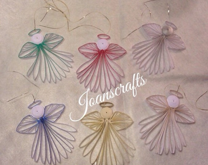 Six Quilled Minature Angel Ornaments