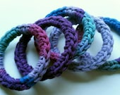 Cat Ferret Toys Toy Recycled Rings Handmade Michigan Purple Blue Pink CurlyGirlCrochet