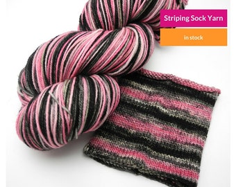 Paris At Last Gradient Self Striping Sock Yarn, Superwash Targhee Wool and Nylon
