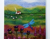Dragonfly Cottage Large Printed Greetings Card