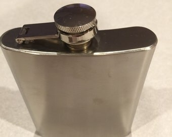 Flask,stainless steel, medieval, Renaissance sca, barware, hip flask, 6 0z flask. LARP events,