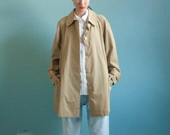 beige trench rain coat / mini tent coat / trapeze rain coat / m / 1060o / R5