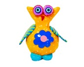 Owl sculpture, owl decor. Owl decoration, owl ornament, owl figure, collectible owl, whimsical owl, animal sculpture ,owl, Owl lover