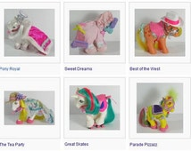 PICK YOUR OWN - Vintage My LIttle Pony G1 Clothing Pieces - Pony Wear - Giant Selection! More To Be Added! Pony Clothes Outfits Year 2 and 3