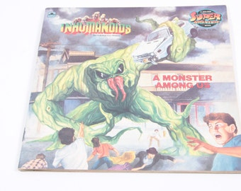 A Monster Among Us - Inhumanoids - Vintage Children's Book ~ The Pink Room ~ 161123B