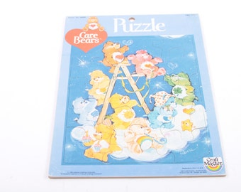 Care Bears Vintage Tray Puzzle Complete and Cute! ~ The Pink Room ~ 160927