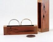 Cherry Hardwood Wedding Ring Box, Engagement Ring Box, Proposal Ring Box, Ring Bearer Pillow