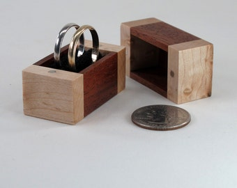Wooden Ring Box, Engagement Ring Box, Proposal Ring Box, Wedding Ring Box, Single Ring Box, Double Ring Box