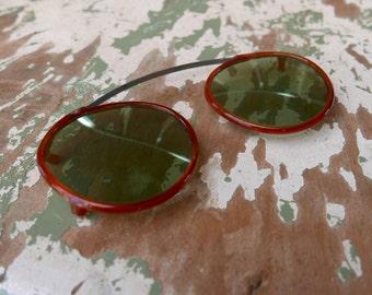 F. G. Co. Clip On Celluloid Sunglasses