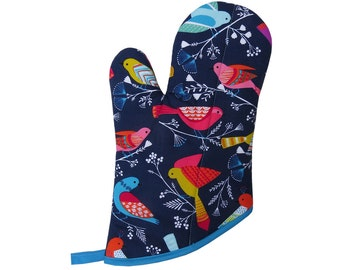 Navy Birds Oven Mitt