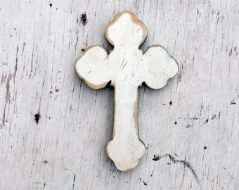 White Cross Salvaged Wood Wall Cross Religious Decor Distressed  Cross Serbian Orthodox Cross Rustic Cross, Salvaged Wood Cross, Brown Cross