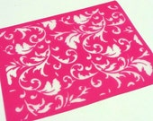Floral Tapestry Silkscreen for Polymer clay, Paper Crafts, painted patterns on smooth surfaces