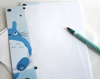 Totoro - Illustrated writing paper set with envelopes