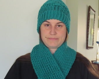 Fun Green Winter Hat and Scarf
