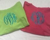 Monogrammed Embroidered Hooded Sweatshirt Hoodie - 25 colors - Children Toddler Teen