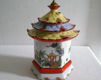 Vintage Porcelain Pagoda Large Incense Holder Diffuser