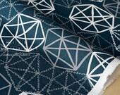 Japanese Fabric - precious jewels canvas - blue, grey, white - 50cm