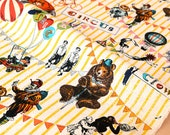 Japanese Fabric - vintage circus canvas - yellow - 50cm