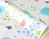 Japanese Fabric - fruity double gauze - blue - 50cm