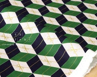 Japanese Fabric Kokka - Tomotake Muddy Works - Gift metallic - A - 50cm