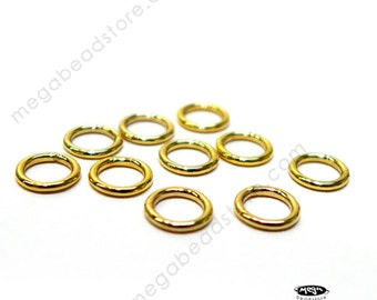 20 pcs 6mm 19 Gauge 14K GOLD FILLED Jump Rings Closed Soldered Connectors F29GFC