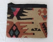 vintage kilim zippered pouch - available in many patterns!