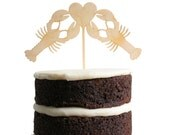 Lobster Love Dessert Topper - Birch Wood