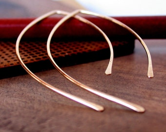 Open Hoop Earrings. Threader Earrings. Gold Open Hoops. Gold Threader Earrings. Rose Gold Open Hoops. Silver Open Hoops