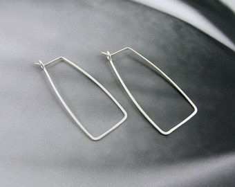 Rectangle Hoops // Sterling Silver