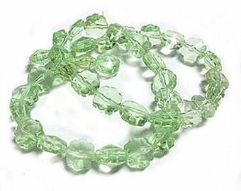 1 strand 40 pieces 8mm flower shape glass beads-8580