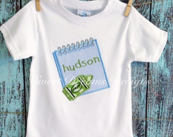 """Boys """" Back to Basics""""  custom back to school shirt. Available in long or short sleeves"""