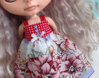 Handkerchief Dress for Blythe - Old Roses