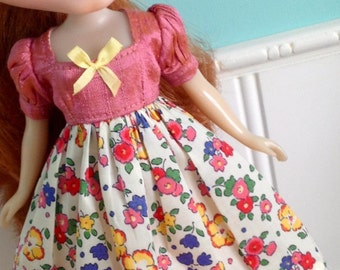 Dress for Blythe - Pretty in Pink - Liberty of London and Dupioni Silk #4