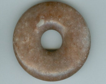 45mm Dark Red Jasper Gemstone PI Focal Donut Pendant  Doughnut 458
