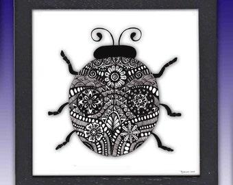 Framed Ladybug Print