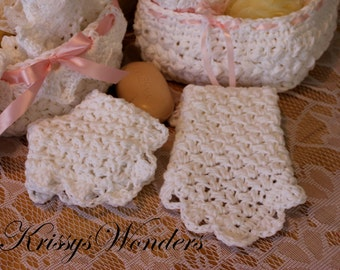 Fancy Cluster Washcloth Crochet Pattern - Lace Dishcloth - Touch of Downton Abbey - Lace Crochet Pattern - Cottage Chic