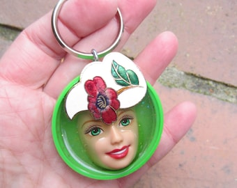 Upcycled Barbie keychain